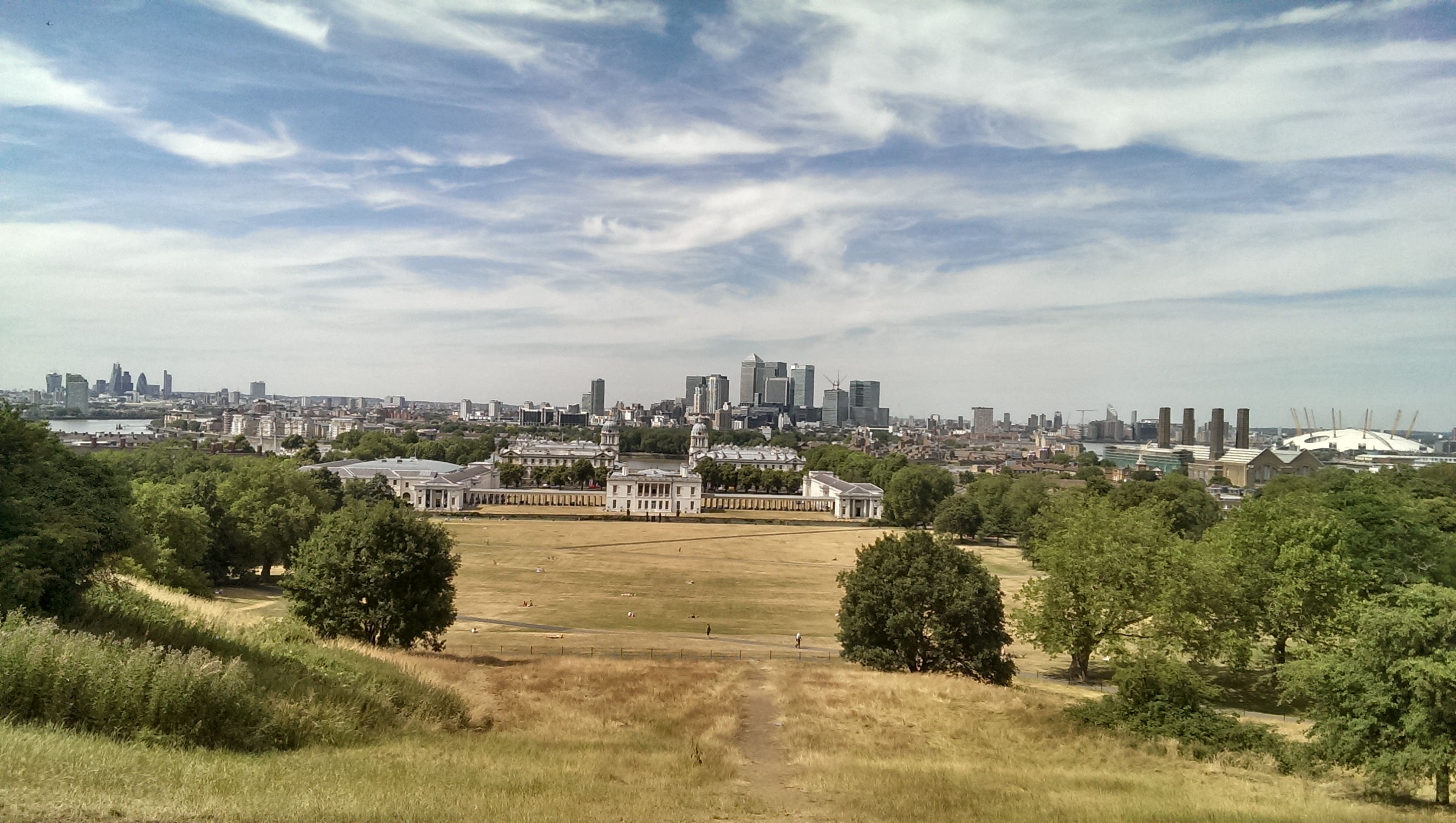 Pohled na Londýn z Greenwich park